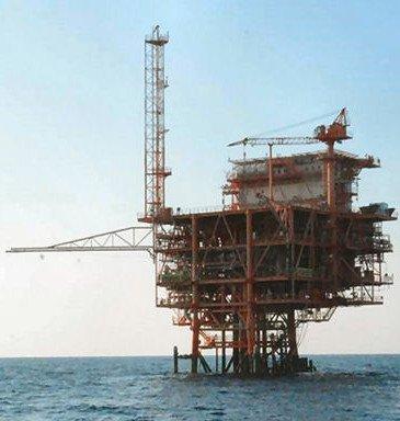 estrazione metano, piattaforma oil e gas